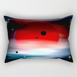 Planet deep in space. Rectangular Pillow