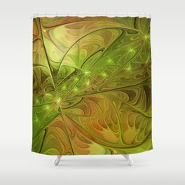 Hope, Abstract Fractal Art Shower Curtain