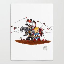 Calvin and Hobbes Inspired Hero Parody Poster