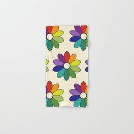 Flower pattern based on James Ward's Chromatic Circle (enhanced) Hand & Bath Towel