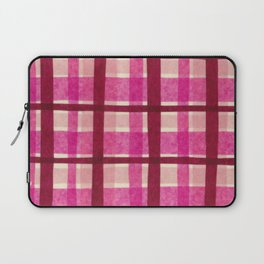 Tissue Paper Plaid - Pink Laptop Sleeve