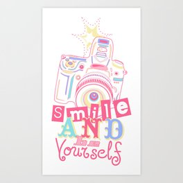Smile and be Yourself - Pastel Camera Art Print