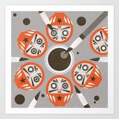 Daruma (Significant Figures) Art Print