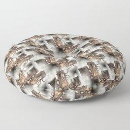 Battery Mishler Power Hoist lower section pattern Floor Pillow