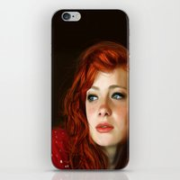 redhead iPhone & iPod Skins featuring RedHead by Allaa Adel