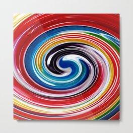 Lollipop Swirls - Rainbow Metal Print