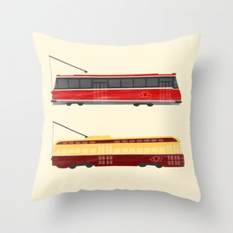 Streetcars Throw Pillow