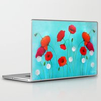 poppies Laptop & iPad Skins featuring Poppies by Sybile Art