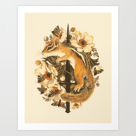 Rites of Moth & Bloom Art Print