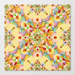 Pastel Mandala Rainbow Canvas Print