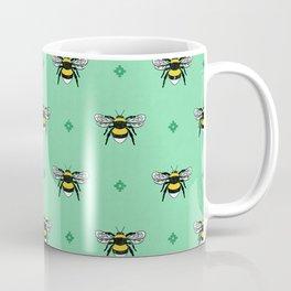 Bumblebees on Spearmint Coffee Mug
