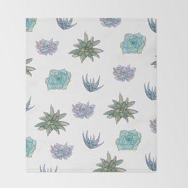 Succulent Pattern Throw Blanket