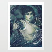 the legend of korra Art Prints featuring Korra by MATT DEMINO