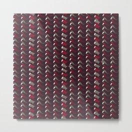 Lovely Dark Red Pattern Metal Print
