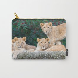 Four Extremely Lovely Wonderful Cubs Relaxing UHD Carry-All Pouch