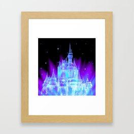Enchanted Castle Turquoise Purple Framed Art Print