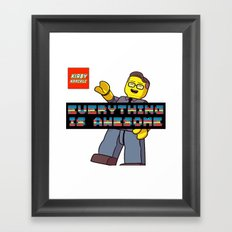 Kirby Krackle -Everything Is Awesome! (Lego style shirt) Framed Art Print