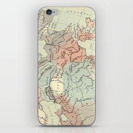 Vintage Map of Europe (1911) iPhone Skin