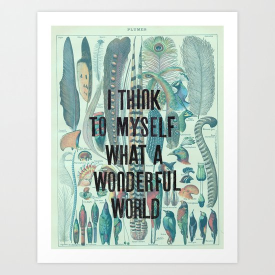 Wonderful World Art Print