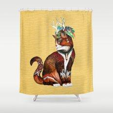 Wizard Cat Shower Curtain