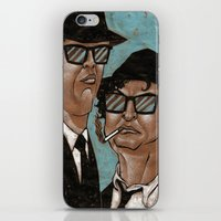 blues brothers iPhone & iPod Skins featuring The Blues Brothers by Dean Arscott Designs LLC