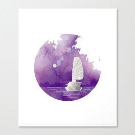 Halong Bay Vietnam Cruise under the Moonlight Canvas Print