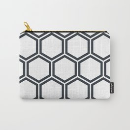 Hexagon White Carry-All Pouch