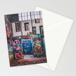Abandoned Building Graffiti Stationery Cards