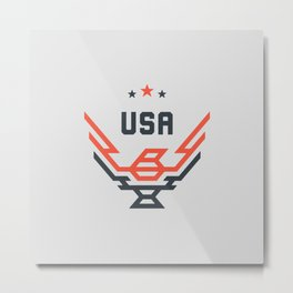 USA Bird Metal Print