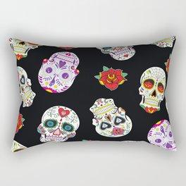 Sugar Skull Pattern Rectangular Pillow