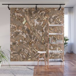 MetalArt liquid texture Wall Mural