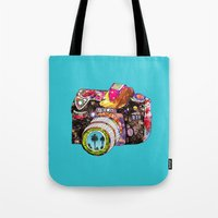 camera Tote Bags featuring Picture This by Bianca Green
