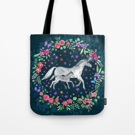 Mama and Baby Unicorn Tote Bag