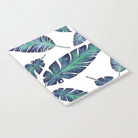 Watercolor garden leaves Notebook