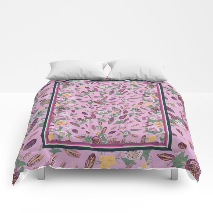 Romantic retro bohemian Comforters