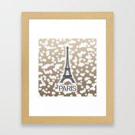 Paris: City of Light, Eiffel Tower (Beige) Framed Art Print