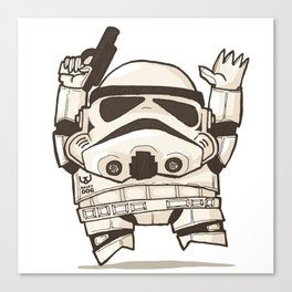 Fat Wars Stormtrooper Canvas Print