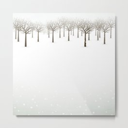 Winter Forest by Friztin Metal Print