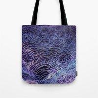 underwater Tote Bags featuring underwater  by Bunny Noir