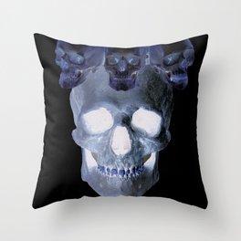 Skull Crown Throw Pillow