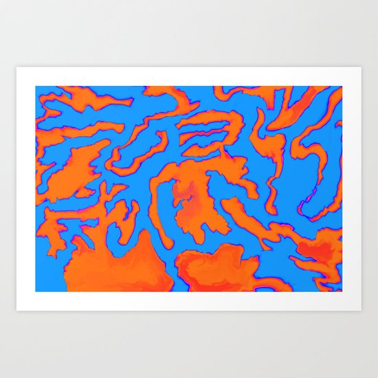 The Retina Isles Art Print