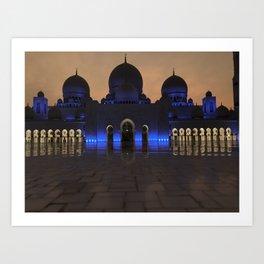 Sheike Zayed Grand Mosque Art Print