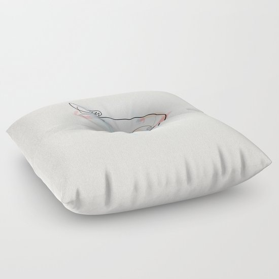 One line koi fish floor pillow by quibe society6 for Koi fish pillow