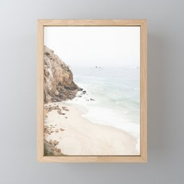 Malibu California Beach Framed Mini Art Print