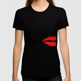 She & He: lips ad moustache T-shirt