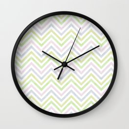 sorbet chevron with a twist Wall Clock