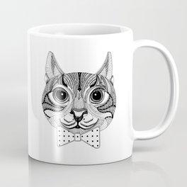 Mr Zebra Cat with Polka Dot Bow Tie Coffee Mug