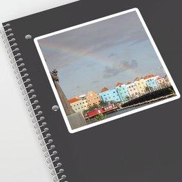Rainbow over Willemstad Curaçao Sticker