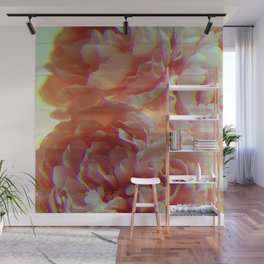 Glitching Peonies Wall Mural