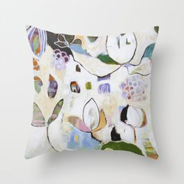 """""""Letting Go"""" Original Painting by Flora Bowley Throw Pillow"""